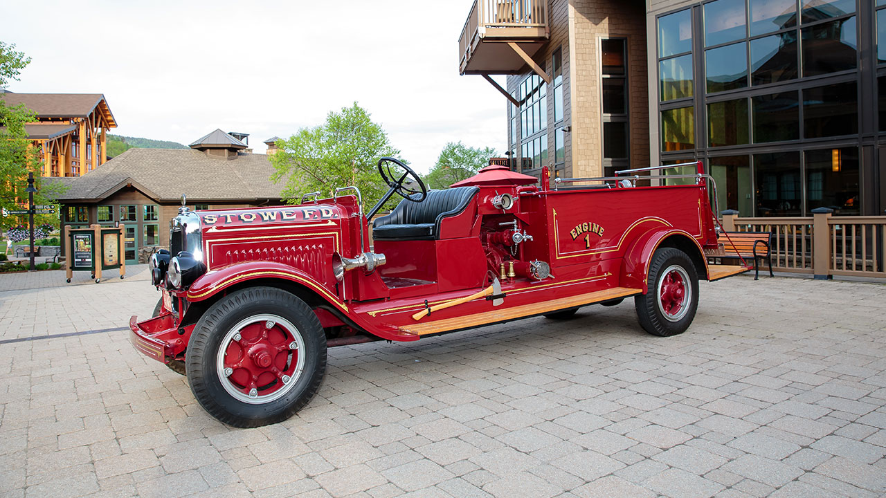 Stowe Fire Department Antique Firetruck