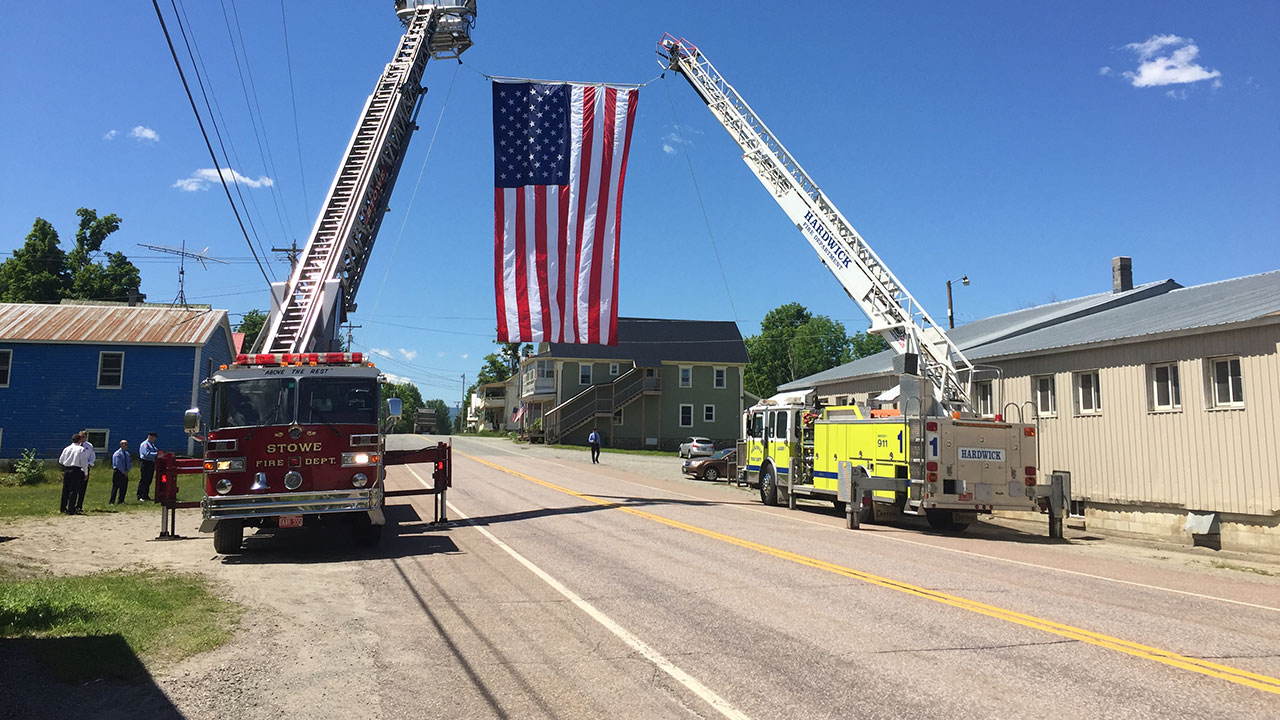 Stowe Fire Department Funeral Duty